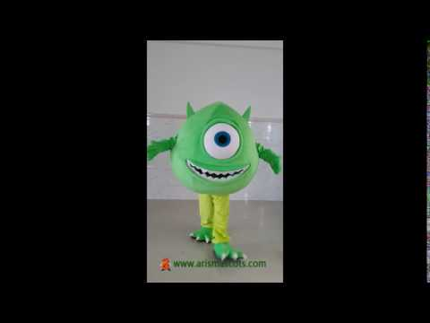 Mike Wazowski Mascot Costume Adult Fancy Dress