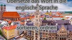 sortieren, ordnen | deutsch - englisch