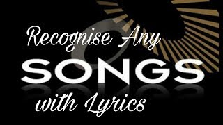Recognize a song with music