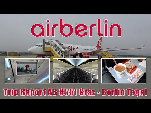 TRIP REPORT | Air Berlin AB8551 Graz - Berlin Tegel onboard 737