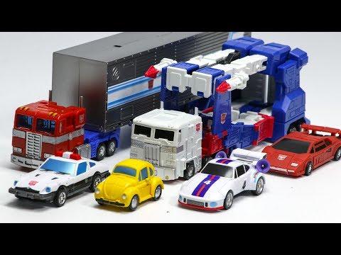 Transformers G1 Mini Optimus Prime Bumblebee Prowl Sideswipe Jazz Ultra Magnus Car Robot Toys