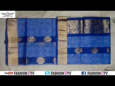 latest designer gas cotton sarees with price/fashion9tv/price:1850 /-