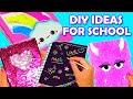 4 COOL DIY IDEAS FOR SCHOOL ~ Notebooks Decor