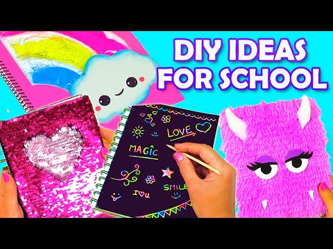 BACK TO SCHOOL DIYS 2019! DIY Notebooks Decor