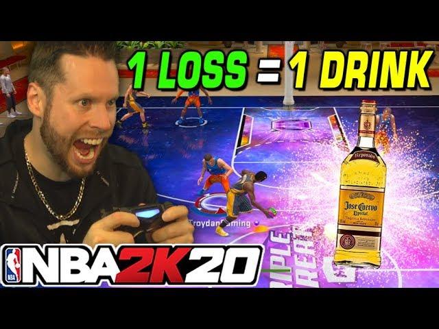 1 Verlust = 1 Getränk! 24 Mamba Challenge auf NBA 2K20 + video