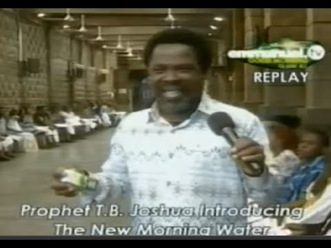 SCOAN 25/01/15: TB JOSHUA INTRODUCES THE NEW MORNING WATER  Emmanuel TV