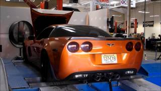 Heads/Cam Corvette C6 Z06 on the dyno. Tune Time Performance