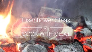 Eisenhower Steak - Bourbon Injected Caveman Style Rib Eye Steak - COOK WITH ME.AT