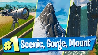 Visit Scenic Spot, Gorgeous Gorge and Mount Kay Location - Fortnite