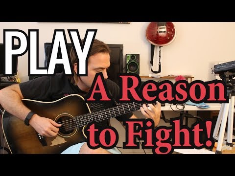 How to play A Reason to Fight on guitar by Disturbed  - Acoustic Intro - Guitar tutorial