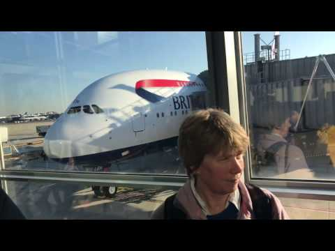 LHR - IAD A380 BRITISH AIRWAYS FLIGHT LONDON - WASHINGTON