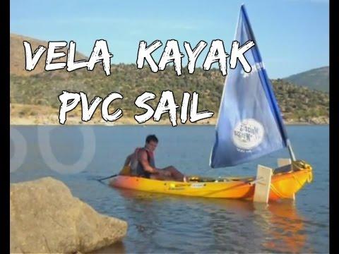 Como hacer vela sencilla para kayak (COMPLETO)/ how to made a simple sail for kayak