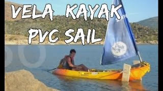 Como hacer vela sencilla para kayak (COMPLETO)/ how to made a simple sail for kayak