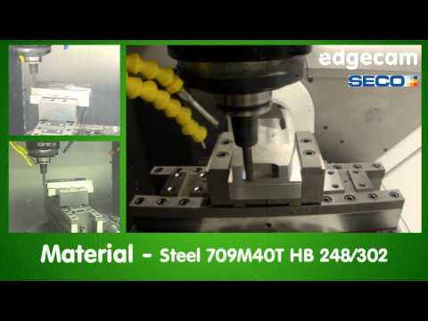 Edgecam Waveform roughing and 5-axis milling - Mikron HMP600 U