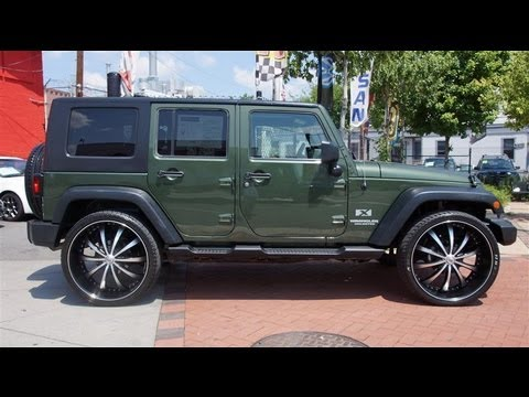 2009 Jeep Wrangler Unlimited X 4wd 26 Inch Wheels Youtube