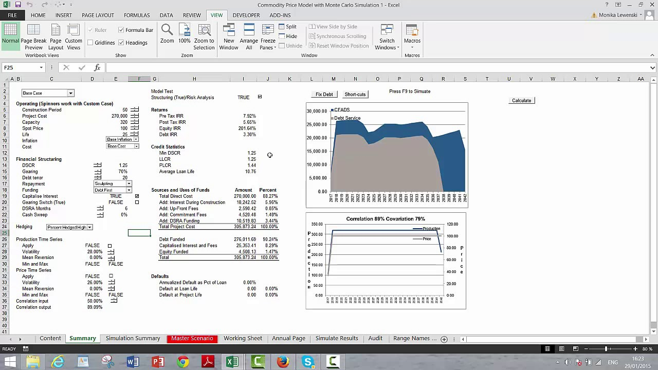 Ease of Adding Monte Carlo Simulation to Financial Models