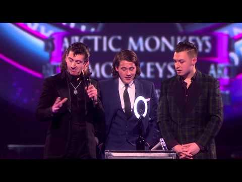Arctic Monkeys win MasterCard Album of the Year| BRITs Acceptance Speeches