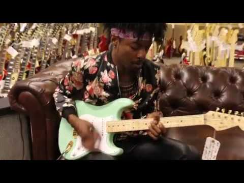 Henny Hendrexz playing a Fender Custom Shop Stratocaster built for Norman's Rare Guitars