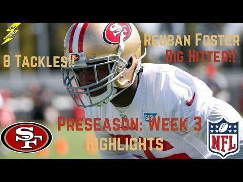 Reuben Foster Week 3 Preseason Highlights Big Hitter!! | 8/27/2017