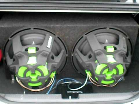 2 Fusion Subwoofers 15 Car Audio System Youtube
