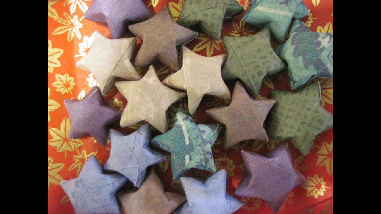 Origami Puffy Star or Lucky Star - YouTube - photo#1