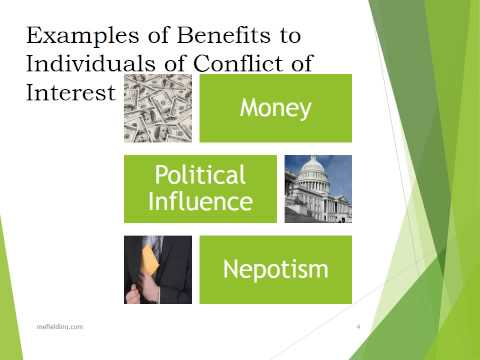 Conflict of Interest, video 1 of 3