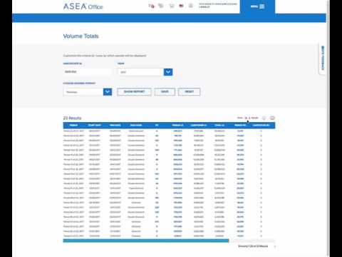 Tutorial del Virtual Office ASEA - Totale Volumi