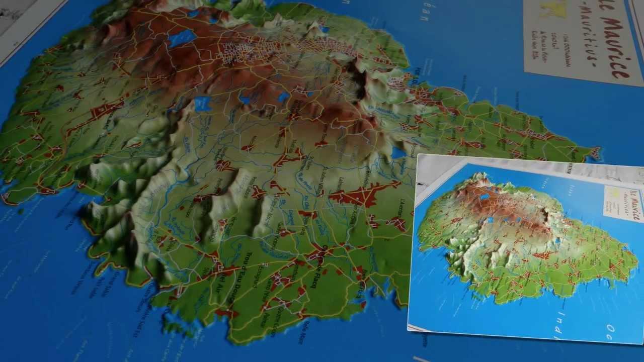 Relativ L'île Maurice - Mauritius en carte 3 D - YouTube JG92