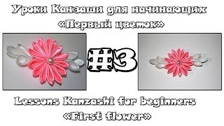 Уроки Канзаши для начинающих #3