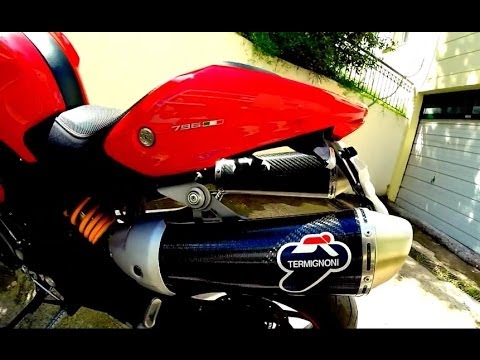 Ducati Monster 796 Termignoni Exhaust Sound [HD]