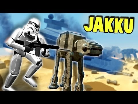 The BEST NEW Map in RAVENFIELD!  (Ravenfield Gameplay Custom Star Wars Jakku Map, AT-ATs)