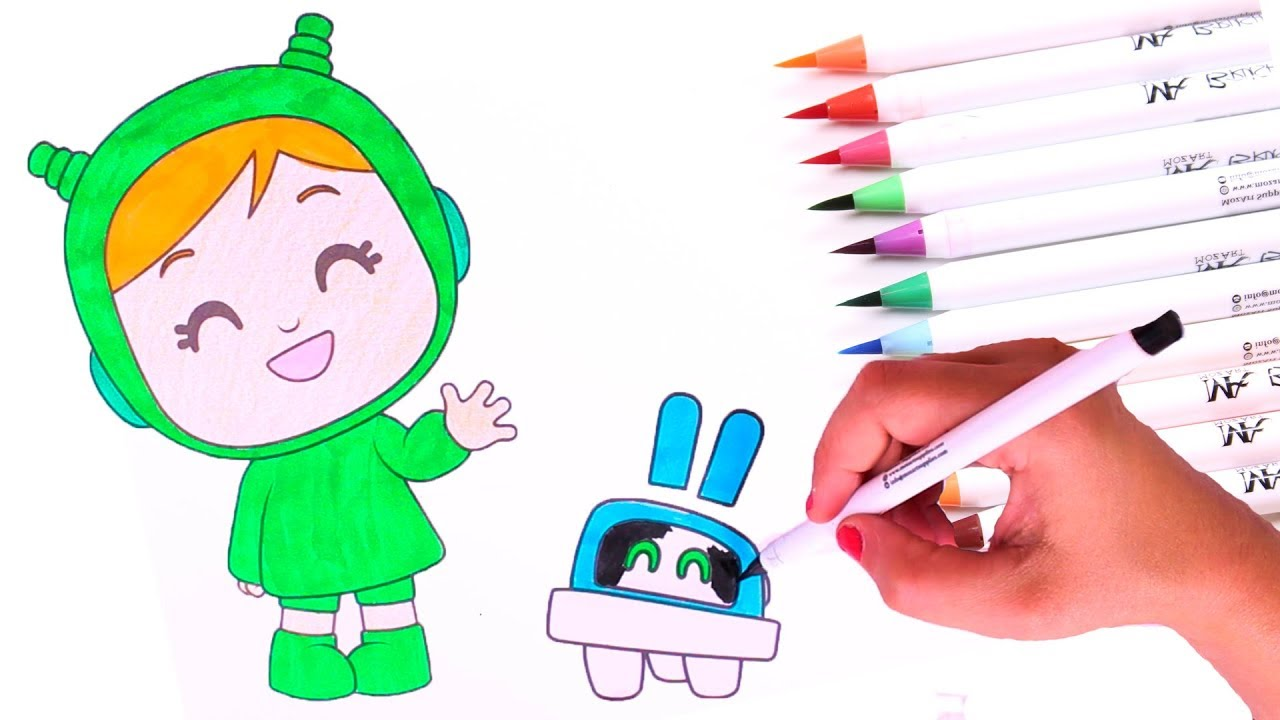 draw and colour 🎨 learning colorscoloring to nina