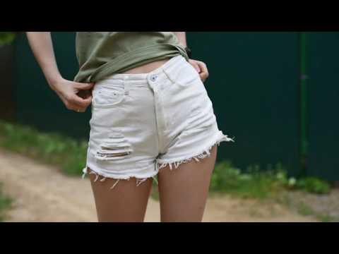 Джинсовые шорты с Алиэкспресс бренда ROMWE