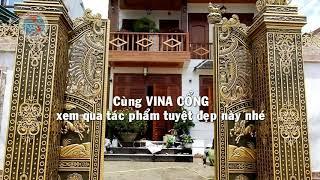 Cổng Nhôm Đúc Ray Trượt Tự Động Tại Đà Lạt, Lâm Đồng