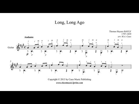 Long Long Ago Long Long Ago Guitar Sheet