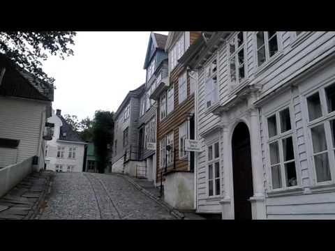 Ancienne ville fantome de bergen en norvege