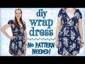 How to Make a Wrap Dress Without a Pattern | DIY Wrap Dress Tutorial with Stretch Fabric