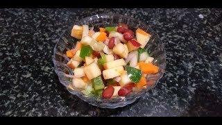 Here you will find out the simple and healthy vegetable salad recipe. it takes only just 5min to make in kitchen. include fresh vegetables your diet...