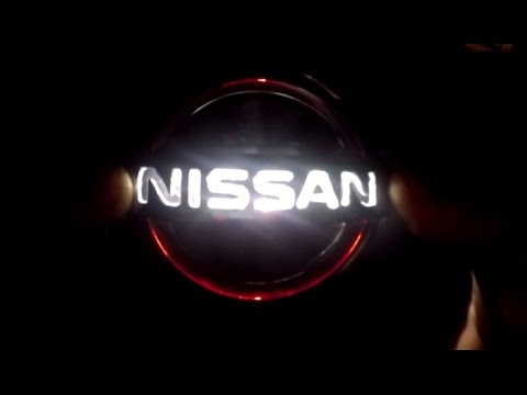 illuminated led emblem on nissan skyline