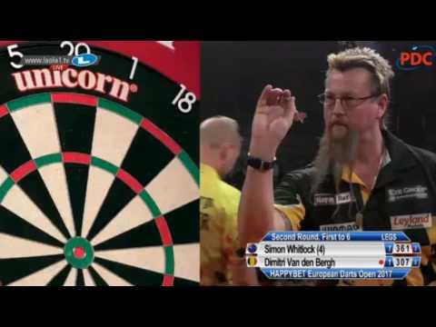 2017 European Darts Open Round 2 Whitlock vs van den Bergh