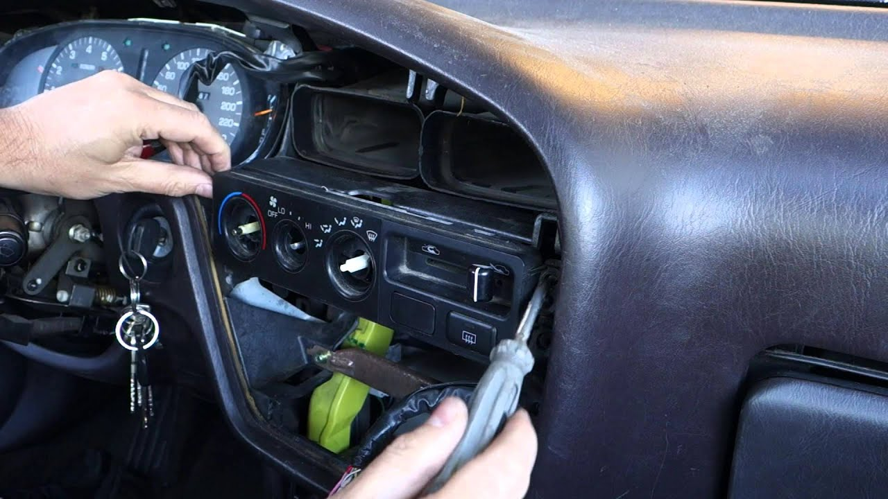 how to replace light bulbs temp and fan console dashboard toyota camry years 1991 to 2002 youtube. Black Bedroom Furniture Sets. Home Design Ideas