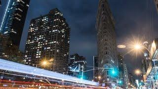 "4K NIGHT TIMELAPSE OF NEW YORK CITY ""THE HUB"""