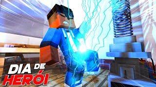 Minecraft: DIA DE HERÓI - PODERES DE SUPER HERÓI #01