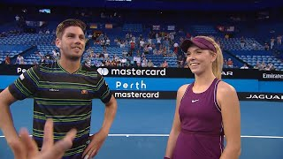 Team Great Britain on-court interview (RR) | Mastercard Hopman Cup 2019