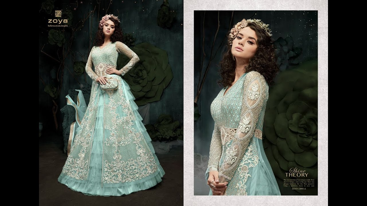 8a7e08ac93 Latest Indian Dresses Collections 2018 || Zoya Fabrics || SPARKLE COLORS  VOL 1