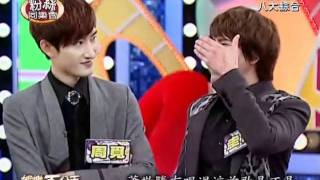 Show Luo & Kyuhyun impersonate Jam Hsiao [110517娛樂百分百]
