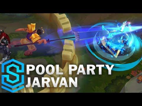 Pool Party Jarvan IV Skin Spotlight - Pre-Release - League of Legends
