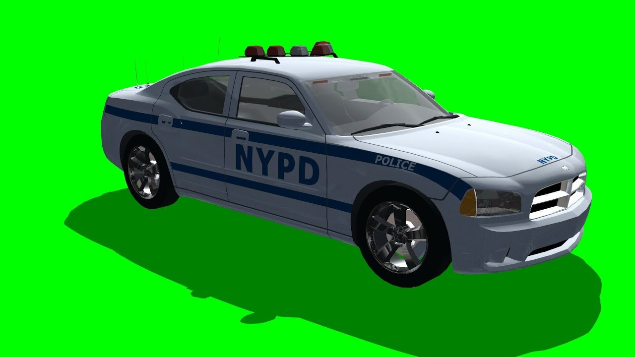 Nypd Police Car Dodge Charger 3d Model Free Green Screen