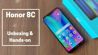 Honor 8C Unboxing & Features Overview in Hindi