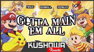 Kushowa Reacts to Gotta Main 'Em All! - SMASH BROS ULTIMATE RAP Ft. Swiblet (Parody of The pokérap)